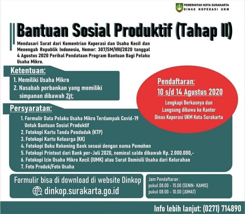SK BANTUAN SOSIAL PRODUKTIF (TAHAP II)
