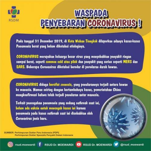 Waspada Penyebaran Virus Corona